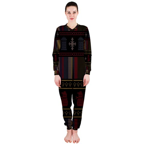 Tardis Doctor Who Ugly Holiday OnePiece Jumpsuit (Ladies)