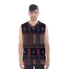 Tardis Doctor Who Ugly Holiday Men s Basketball Tank Top
