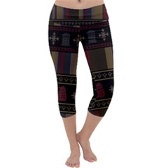Tardis Doctor Who Ugly Holiday Capri Yoga Leggings