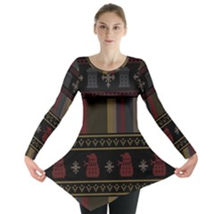 Tardis Doctor Who Ugly Holiday Long Sleeve Tunic
