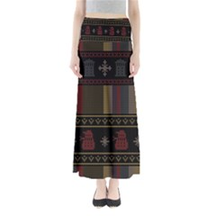Tardis Doctor Who Ugly Holiday Maxi Skirts