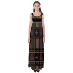Tardis Doctor Who Ugly Holiday Empire Waist Maxi Dress