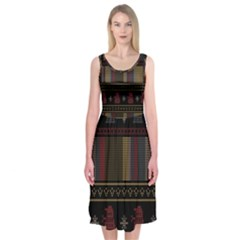Tardis Doctor Who Ugly Holiday Midi Sleeveless Dress