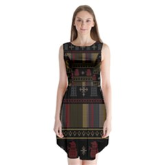 Tardis Doctor Who Ugly Holiday Sleeveless Chiffon Dress