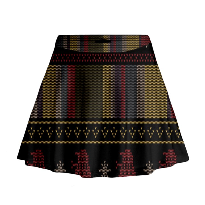 Tardis Doctor Who Ugly Holiday Mini Flare Skirt
