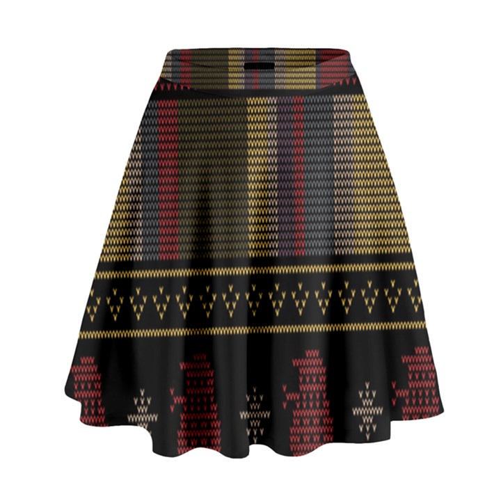 Tardis Doctor Who Ugly Holiday High Waist Skirt