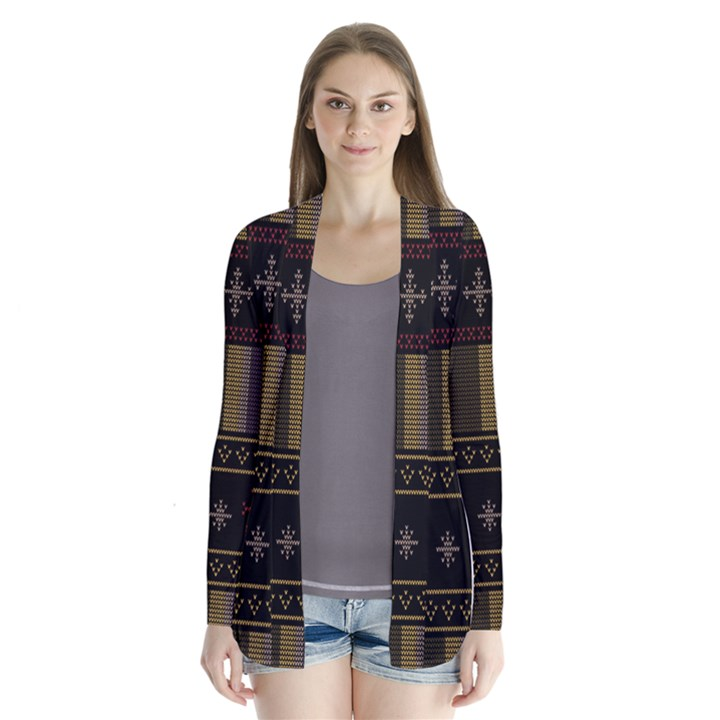 Tardis Doctor Who Ugly Holiday Drape Collar Cardigan