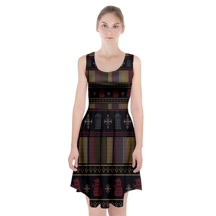 Tardis Doctor Who Ugly Holiday Racerback Midi Dress