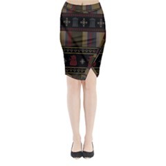 Tardis Doctor Who Ugly Holiday Midi Wrap Pencil Skirt