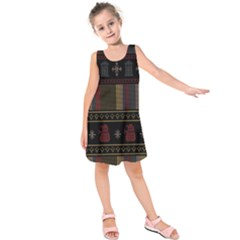 Tardis Doctor Who Ugly Holiday Kids  Sleeveless Dress