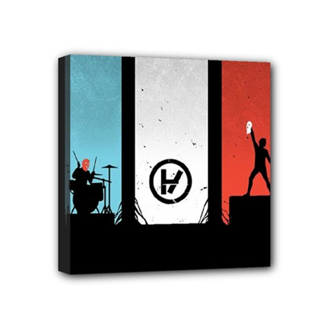 Twenty One 21 Pilots Mini Canvas 4  x 4