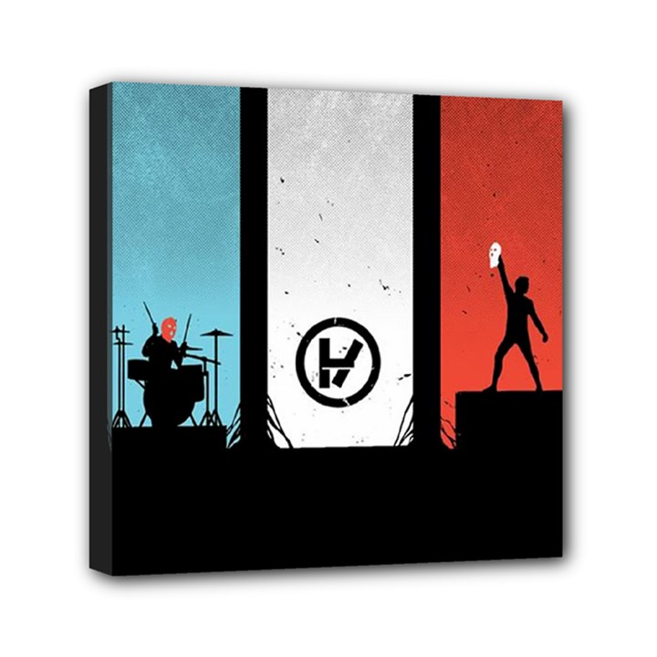 Twenty One 21 Pilots Mini Canvas 6  x 6