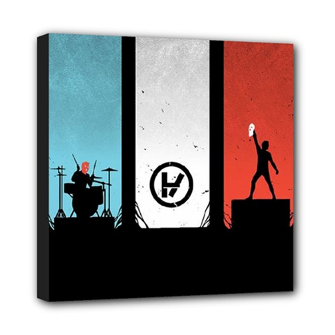Twenty One 21 Pilots Mini Canvas 8  X 8