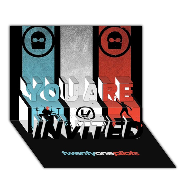 Twenty One 21 Pilots YOU ARE INVITED 3D Greeting Card (7x5)