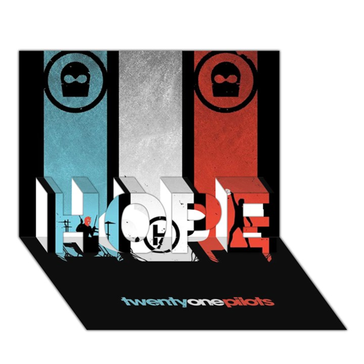 Twenty One 21 Pilots HOPE 3D Greeting Card (7x5)