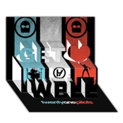 Twenty One 21 Pilots Get Well 3D Greeting Card (7x5)