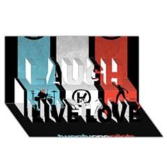 Twenty One 21 Pilots Laugh Live Love 3d Greeting Card (8x4)