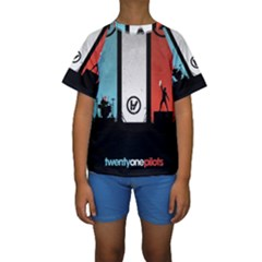 Twenty One 21 Pilots Kids  Short Sleeve Swimwear