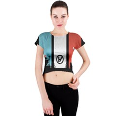 Twenty One 21 Pilots Crew Neck Crop Top