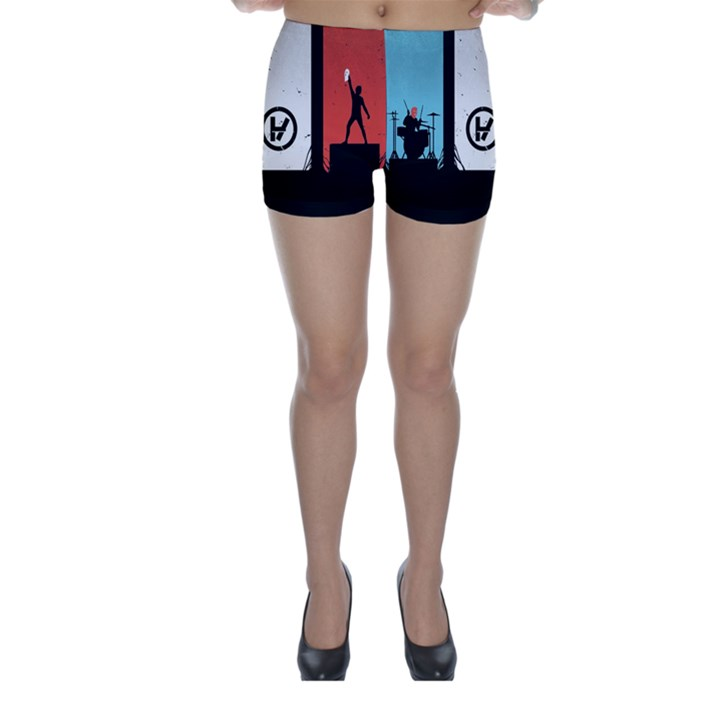 Twenty One 21 Pilots Skinny Shorts