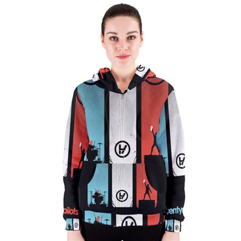 Twenty One 21 Pilots Women s Zipper Hoodie