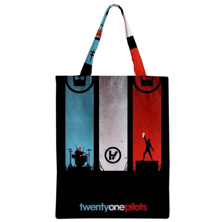Twenty One 21 Pilots Zipper Classic Tote Bag