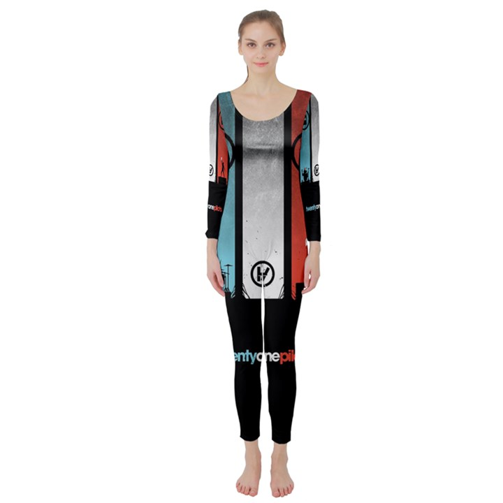 Twenty One 21 Pilots Long Sleeve Catsuit