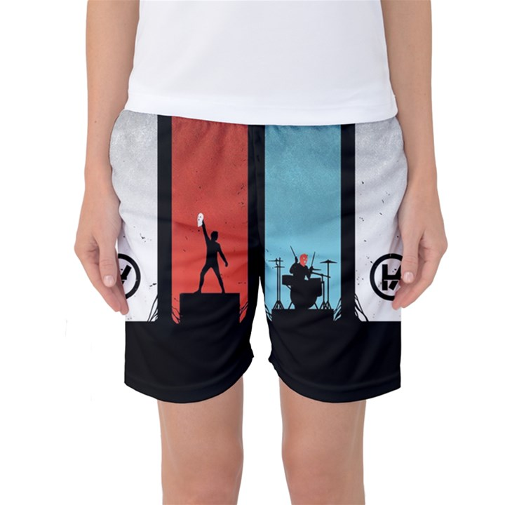 Twenty One 21 Pilots Women s Basketball Shorts