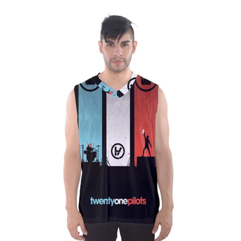 Twenty One 21 Pilots Men s Basketball Tank Top