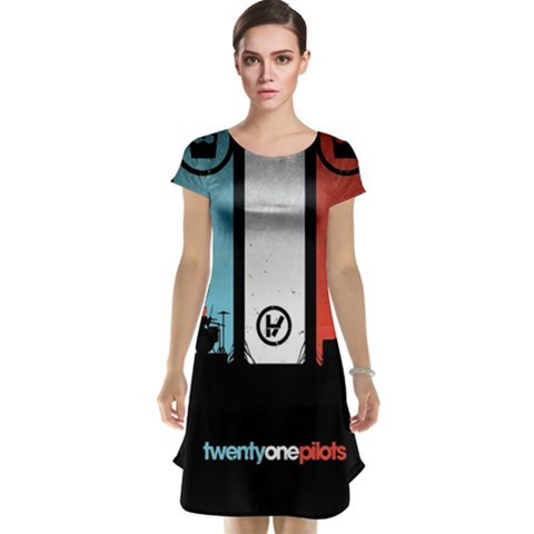 Twenty One 21 Pilots Cap Sleeve Nightdress