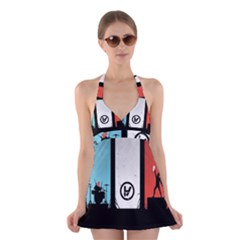 Twenty One 21 Pilots Halter Swimsuit Dress