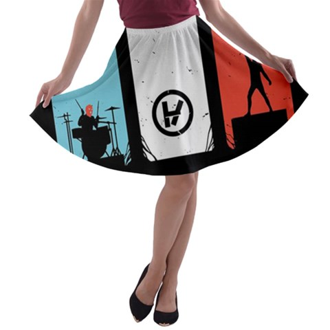 Twenty One 21 Pilots A-line Skater Skirt