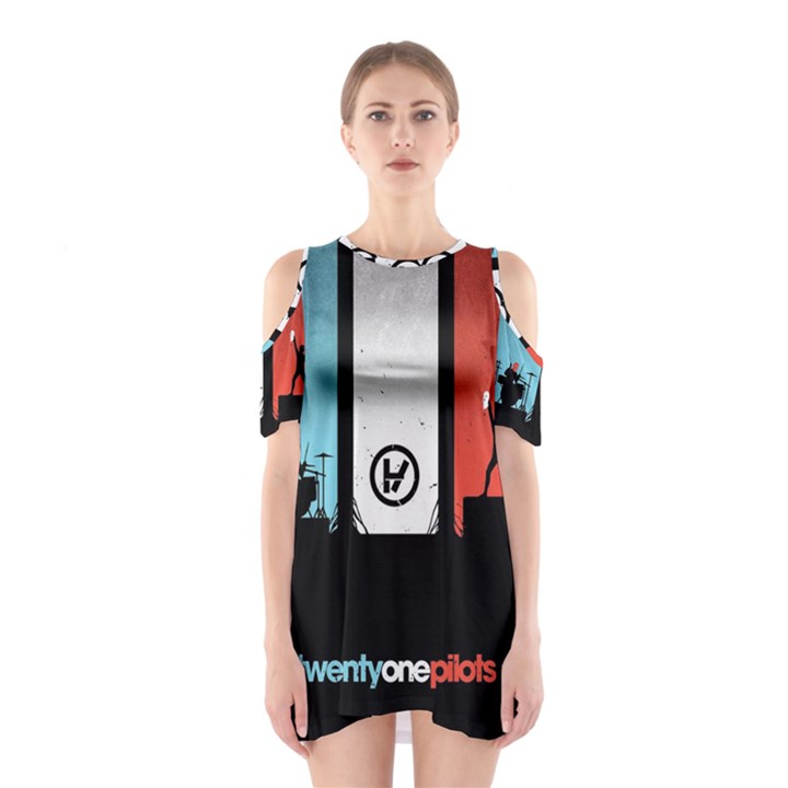 Twenty One 21 Pilots Cutout Shoulder Dress