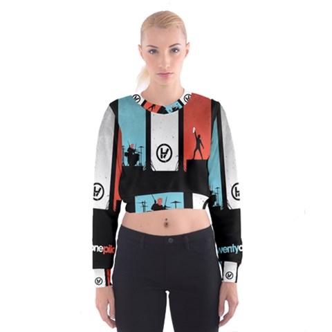 Twenty One 21 Pilots Women s Cropped Sweatshirt