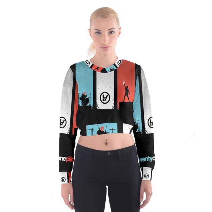 Twenty One 21 Pilots Women s Cropped Sweatshirt