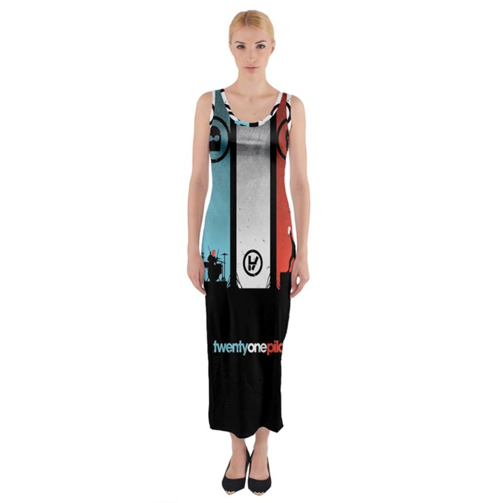 Twenty One 21 Pilots Fitted Maxi Dress