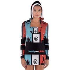 Twenty One 21 Pilots Women s Long Sleeve Hooded T-shirt