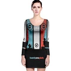Twenty One 21 Pilots Long Sleeve Velvet Bodycon Dress