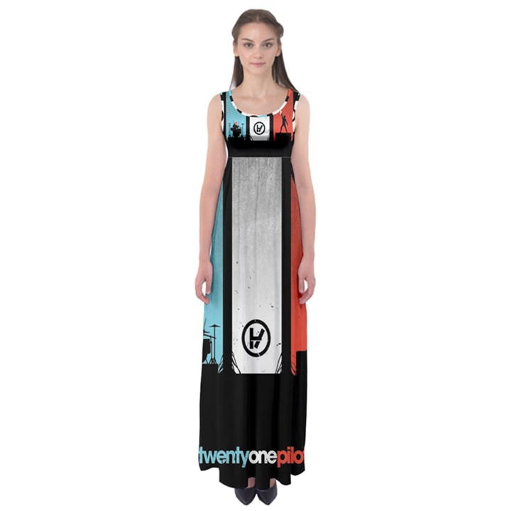 Twenty One 21 Pilots Empire Waist Maxi Dress