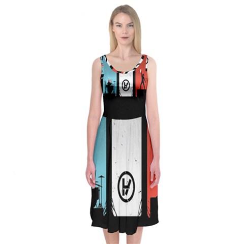 Twenty One 21 Pilots Midi Sleeveless Dress