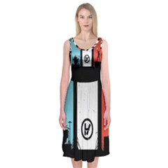 Twenty One 21 Pilots Midi Sleeveless Dress