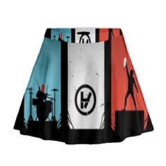 Twenty One 21 Pilots Mini Flare Skirt