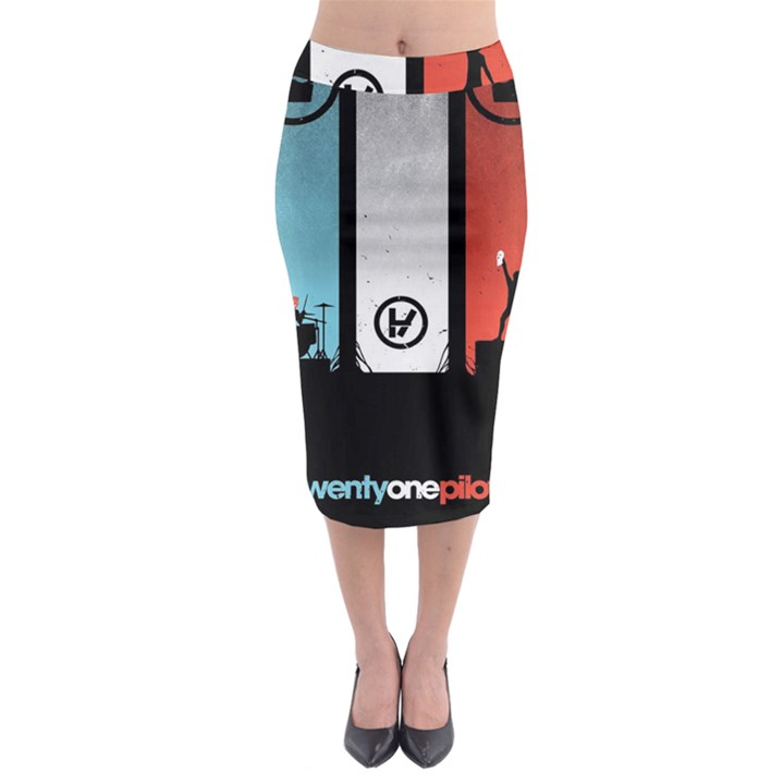 Twenty One 21 Pilots Midi Pencil Skirt