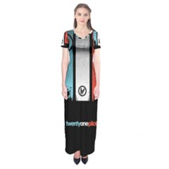 Twenty One 21 Pilots Short Sleeve Maxi Dress