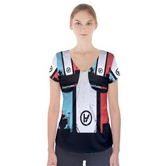 Twenty One 21 Pilots Short Sleeve Front Detail Top