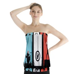 Twenty One 21 Pilots Strapless Top