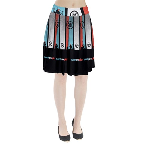 Twenty One 21 Pilots Pleated Skirt