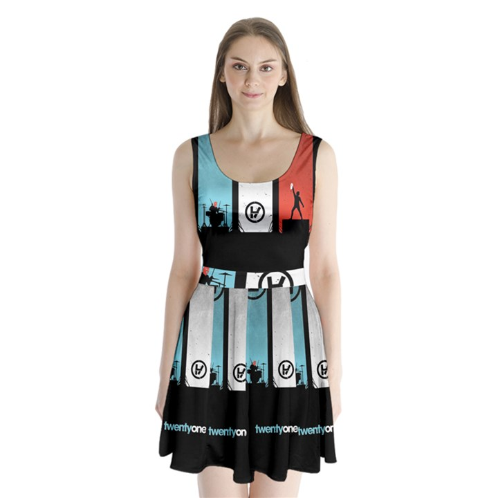 Twenty One 21 Pilots Split Back Mini Dress