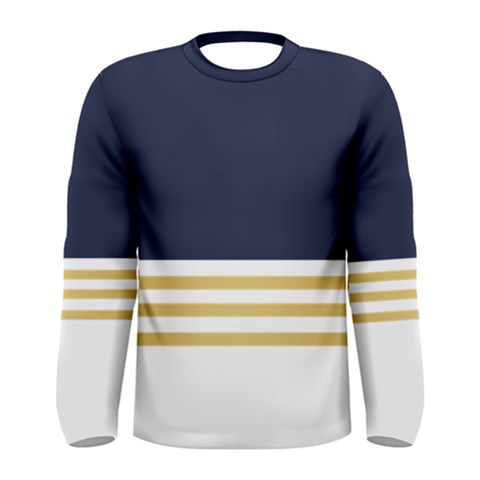 Dress Up Blue And Gold Men s Long Sleeve Tee