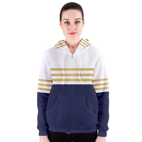 Dress Up Blue And Gold Women s Zipper Hoodie